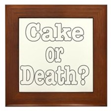 cake or death for dark Framed Tile