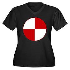 Crash Test M Women's Plus Size Dark V-Neck T-Shirt