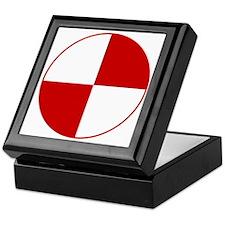 Crash Test Marker (Red and White) Keepsake Box