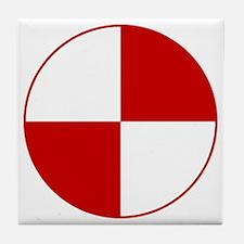 Crash Test Marker (Red and White) Tile Coaster