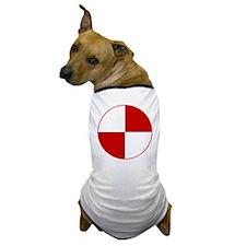 Crash Test Marker (Red and White) Dog T-Shirt