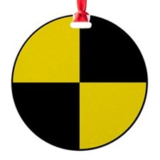 Crash Test Marker (Yellow and Black Ornament