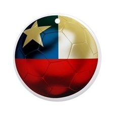 Chile Football Round Ornament