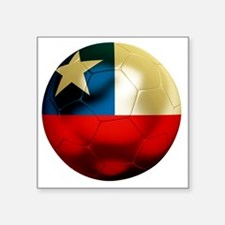 "Chile Football Square Sticker 3"" x 3"""