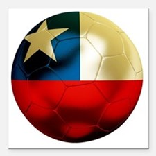 "Chile Football Square Car Magnet 3"" x 3"""