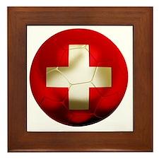 Switzerland Football Framed Tile