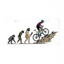 Mountain Biker Aluminum License Plate