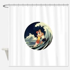 Vintage Art Deco Love Romantic Kiss Shower Curtain