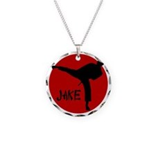 jake karate Necklace Circle Charm