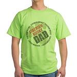 Siberian Husky Dad Green T-Shirt