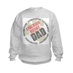 Siberian Husky Dad Kids Sweatshirt