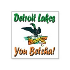 "Detroit Lakes Loon Square Sticker 3"" x 3"""