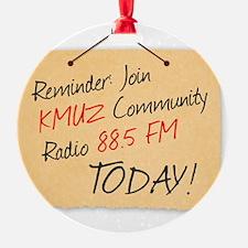 KMUZ_old-paper-message-3_LARGE copy Ornament