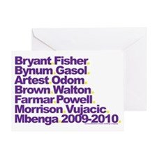 2009-2010 Lakeshow Line-up Greeting Card