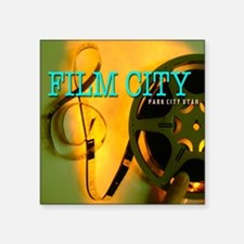 "MoreFilmCityCuts10 Square Sticker 3"" x 3"""
