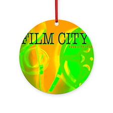 FilmCityNeon1 Round Ornament