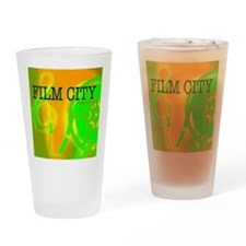 FilmCityNeon1 Drinking Glass