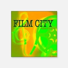 "FilmCityNeon1 Square Sticker 3"" x 3"""