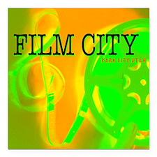 "FilmCityNeon1 Square Car Magnet 3"" x 3"""