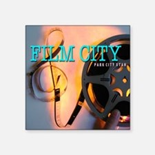 "MoreFilmCityCuts16 Square Sticker 3"" x 3"""