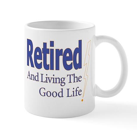 """Retired"" (Right Hand) Mug"