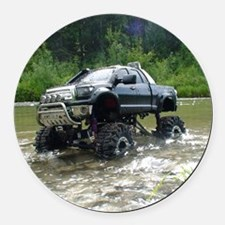 TUNDRAS DAY OUT Round Car Magnet