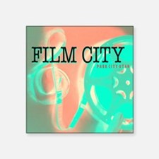 "FilmCityNeon2 Square Sticker 3"" x 3"""