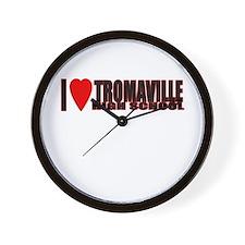 I (heart) Tromaville High  Wall Clock