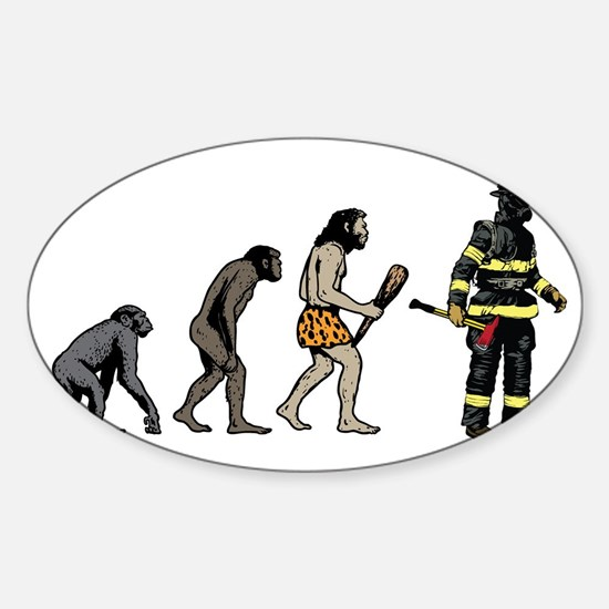 Fire Fighter Sticker (Oval)
