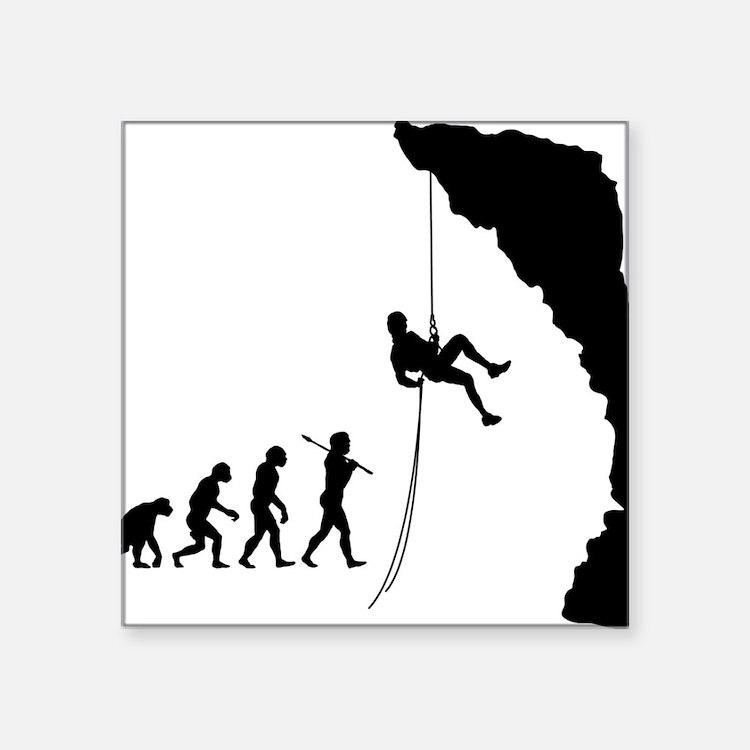 "Rock Climbing 10 Square Sticker 3"" x 3"""