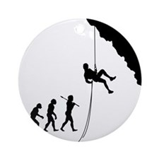 Rock Climbing 10 Round Ornament