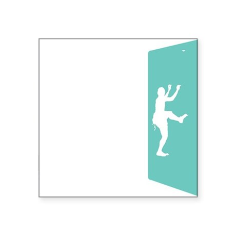 "Wall Climbing 2 White Square Sticker 3"" x 3"""