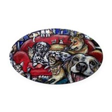 paintingannarevised4 Oval Car Magnet