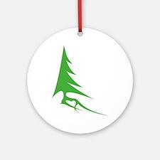 Tree-iso Round Ornament