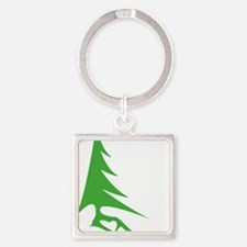Tree-iso Square Keychain