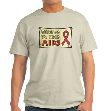 Working to End AIDS Light T-Shirt