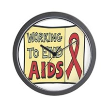 Working to End AIDS Wall Clock