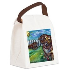 2-paintingdillpickle Canvas Lunch Bag