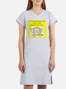 tea party joke Women's Nightshirt