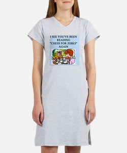 i love chess Women's Nightshirt