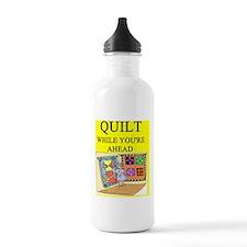 quilting joke Water Bottle