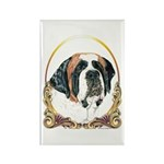 St Bernard Christmas/Holiday Rectangle Magnet (100