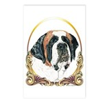 St Bernard Christmas/Holiday Postcards (Package of