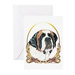 St Bernard Christmas/Holiday Greeting Cards (Packa