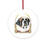 St Bernard Christmas/Holiday Ornament (Round)