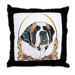 St Bernard Christmas/Holiday Throw Pillow