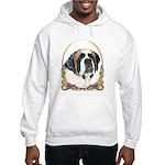 St Bernard Christmas/Holiday Hooded Sweatshirt