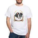 St Bernard Christmas/Holiday White T-Shirt