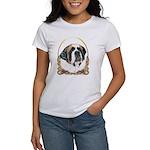 St Bernard Christmas/Holiday Women's T-Shirt