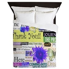 thanks13x13pillowyellowcir Queen Duvet